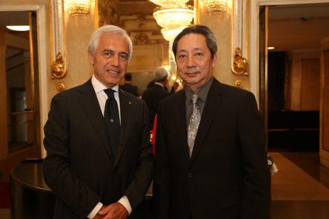 """Per il secondo anno consecutivo il Ministero degli Esteri di Taiwan ha voluto generosamente supportare il """"Make a WISH"""". Qui, venuto appositamente da Budapest, l'Ambasciatore Wen-lung Tao."""