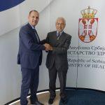 Cordiale incontro con il Ministro della Salute serbo