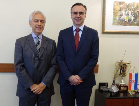 Amb. Gordan Markotic with H.E. Amb. Alberto di Luca