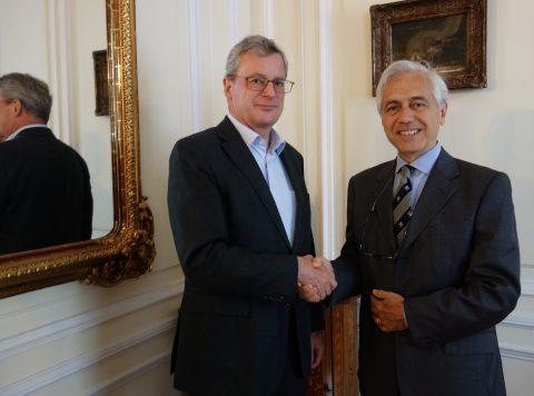 Amb. Johannes Eigner with H.E. Amb. Alberto di Luca
