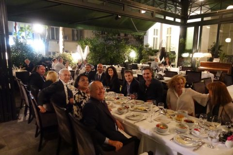 "After the spectacle, light dinner in honor of the soprano Claire Coolen and the baritone Alberto Gazale. Besides the Maestro Dejan Savic, Ambassador Alberto di Luca with his wife Emanuela, Minister-Counsellor Carlo Buora with his wife Daniela, Counsellor Valter Catoni with his wife Patrizia, Advisor to Ambassador for diplomatic issues Sonja Spirito with her husband Enzo, Project Manager of the ""Make a WISH"" Nenad Prokic and the secretary at the embassy Tamara Jovanovic"