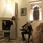 During the evening, the guests appreciated the performance given by the established artists Nina Karmon, an enchanting violinist from Germany and Denis Omerovic, a brilliant guitarist from Sarajevo.
