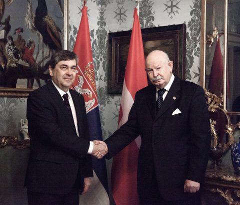 Consegna delle Credenziali dell'Ambasciatore di Serbia presso l'Ordine di Malta.