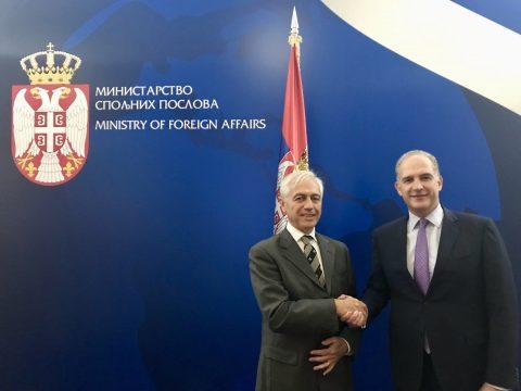 L'Amb. Alberto di Luca a colloquio con il Direttore degli affari politici del Ministero degli Esteri, Amb. Zoran Vujić.